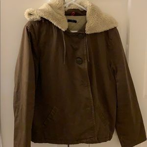 JCREW quilted sherpa jacket